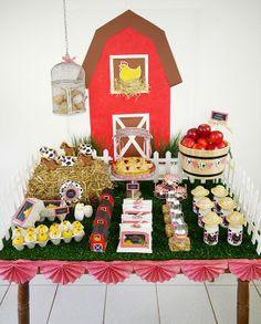 Barnyard Birthday - Desserts Table1