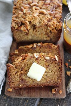 Salted Caramel Cashew Banana Bread | Two Peas & Their Pod