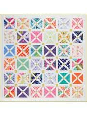 "Spot Quilt Pattern ( ""X"" marks the spot)  Finished sizes:    Small: 35"" x 35"" using 36 charm squares and 1 fat eighth  Large: 46"" x 57"" using 80 charm squares and 1 fat quarter"