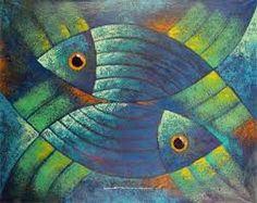 Resultado de imagen de pinturas peces                              …