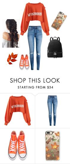 """wondrous"" by slytherin-chic ❤ liked on Polyvore featuring WithChic, H&M, Converse, Casetify and MICHAEL Michael Kors"