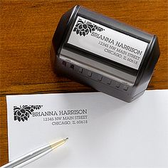 Self-Inking Address Stamper is beautiful! It comes in Purple and is only $16.95!