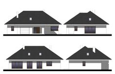 Projekt domu Wiesiołek 3 G, wizualizacja 3 Modern Family House, Planer, House Design, Home Plans, Architecture Design, House Plans, Home Design, Design Homes