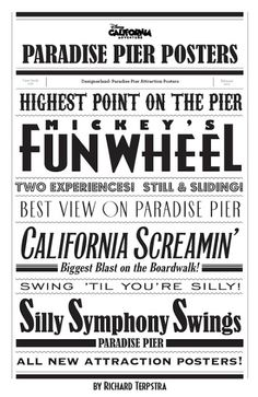 Paradise Pier Typography by Richard Terpstra. Would be sooo cute as background paper in a scrapbook!
