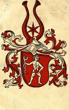 Coat of arms; cutting from an unidentified book, printed at Augsburg (Germany), 1490. -- Woodcut with hand-colouring.