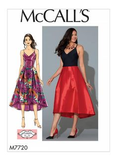 Some highlights from the Big Four 2018 spring patterns - Vogue, Butterick, McCall's and Simplicity - dresses, tops and pants. Evening Dress Patterns, Evening Dresses, Prom Dresses, Bridesmaid Dress, Corsage, Vogue, Miss Dress, Mccalls Sewing Patterns, Spring Dresses