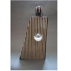 Worry Jar/Funeral/Funerary Urn Vessel w/Swarovski crystal