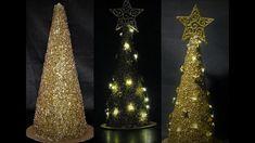Jak zrobić złotą choinkę z masy strukturalnej - Pomysły plastyczne dla k...