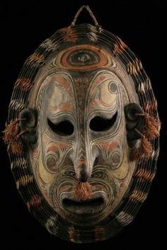 Masque Iatmul Ancestor Mask Tambanum Oceanic Tribal Art | eBay