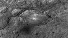 Fly over the dwarf planet Ceres in a cool new NASA animation - Craters, a mountain and the mysterious bright spots of the world are on stark display in a newly-released video crafted using data from NASA's Dawn spacecraft orbiting Ceres. The video shows, among other features, a 4-mile-high pyramid-shaped mountain on Ceres — the largest object in the asteroid belt between Jupiter and Mars. The mountain that plays host to its own bright streaks is about the size of Mount McKinley in Alaska...