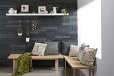 Shop Timberwall Landscape Peel and Stick Wood Wall Covering at Lowe's Canada. Find our selection of wall panels at the lowest price guaranteed with price match. Stick On Wood Wall, Peel And Stick Wood, Wood Sticks, Timber Walls, Wood Panel Walls, Timber Feature Wall, Wood Stain Colors, Decorative Wall Panels, Wall Trim