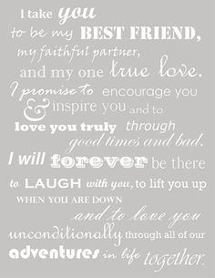 Really like these vows! - Popular Quotes Pins on Pinterest