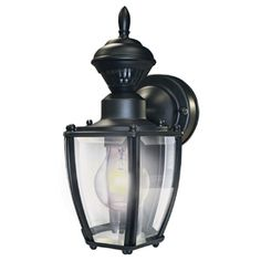 Secure Home 11 In H Black Motion Activated Outdoor Wall Light We Purchased 2