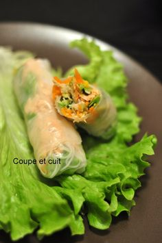 Rouleaux de printemps saumon, avocat, mangue