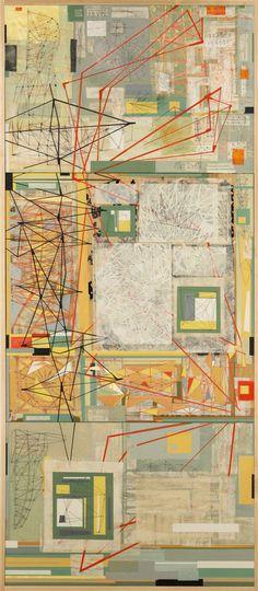 dt class=titleQuadrantem, 2009/em/dtdd class=mediumAcrylic and collage on panel/dddd class=image dimensions 36 x 36 inches/dd
