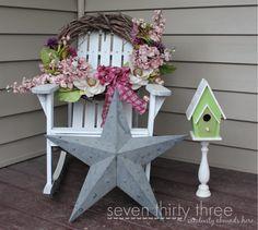 seven thirty three - - - a creative blog: Pedestal Birdhouse - DIY