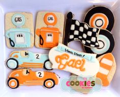 Vintage Car Themed Cookie for Birthday Boy