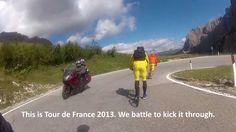 Kickbiking with the 2013 Tour de France