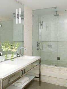 Master bath shower designs - contemporary - bathroom - style at home Small Basement Bathroom, Bathroom Renos, Bathroom Flooring, Bathroom Renovations, Bathroom Interior, Bathroom Ideas, Bathroom Plumbing, Bathroom Layout, Industrial Bathroom