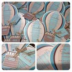 These Are Ready To Go!! Up, Up And Away!!! Hot Air Balloon Baby Shower  Invitations . Look How Cute These Baby Shower Invites Came Out! @ashleyg230u2026
