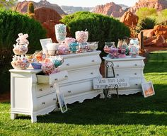 Too much color on your candy buffet will become distracting rather than appealing. Stick to 2-3 different colors to make an artistic impression. - See more at: http://www.quinceanera.com/decorations-themes/20-most-creative-candy-buffets-youve-ever-seen/#sthash.EdzzSXoy.dpuf