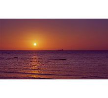 Sunset over Port Phillip Bay - Melbourne, Victoria Photographic Print