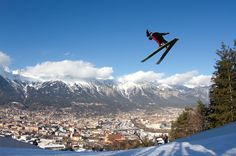 this is where our eagles fly! The famous tournament --> 4 Schanzen Tournee in Innsbruck! Innsbruck, Alps, Austria, Mount Everest, Skiing, Mountains, Nature, Travel, Ski