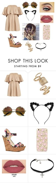 """""""Summer☀️✨"""" by marialk-1 on Polyvore featuring beauty, Topshop, Smashbox and Vanessa Mooney"""
