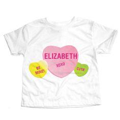 Personalized Sweet Conversation Heart T-Shirt