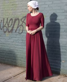 Handmaid's Tale Costume made by Frenchie York. Beautiful fabric. Halloween costume