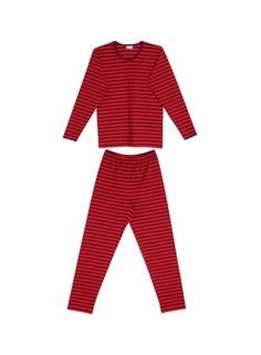 Pitkäsetti pyjamas (dark red, red) | Clothing, Women, Nightwear | Marimekko