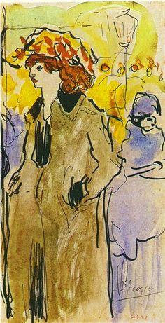 Mujer en la calle - Pablo Picasso · 1901