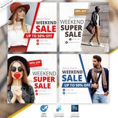 Social Media Poster, Social Media Banner, Social Media Design, Photoshop, Banner Online, Instagram Banner, Fashion Banner, Web Banner Design, Book Posters