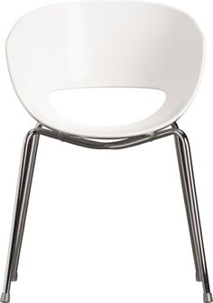 orbit white arm chair in chairs, benches | CB2 $129