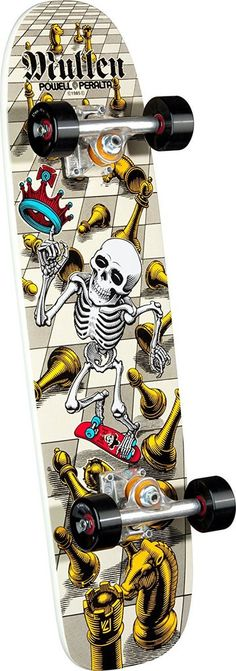 Powell Peralta Rodney Mullen Complete Skateboard - Limited Edition Bones Brigade Deck - Designed by professional skaters. Made in the USA - All Skate One Corporation products come with a warranty
