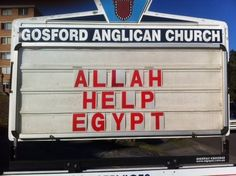 The Parish of Gosford has broad horizons.I love the idea of an Australian Church appealing to Allah to help a wonderful Middle Eastern country.