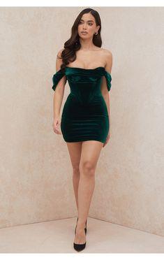 Tight Dresses, Simple Dresses, Pretty Dresses, Sexy Dresses, Short Dresses, Mini Dresses, Green Formal Dresses, Short Green Dress, Sexy Green Dress