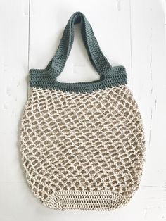Netop – hæklet net – FiftyFabulous - Best Home Idea Diy Crochet And Knitting, Crochet Amigurumi Free Patterns, Crochet Food, Love Crochet, Crochet Stitches, Diy Tote Bag, Crochet Stars, Net Bag, Cotton Bag