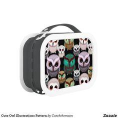 Cute Owl Illustrations Pattern Yubo Lunchbox