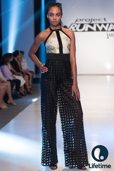 This see through waffle pant was a Project Runway Junior judge favorite in the finale.