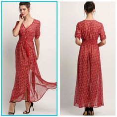 Women slit Maxi dress at 1225 only