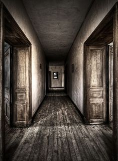 The Blue Chair by stengchen on DeviantArt Creepy Drawings, Horror House, Abandoned Houses, Corridor, Macabre, Foyer, Scary, Exterior, Art