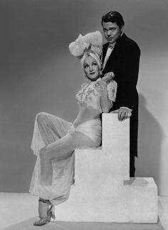 Marlene Dietrich and Orson Welles