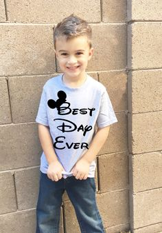 Best day ever Disneyland and Disney World t shirt for kids boys and girls matching shirts for the whole family available in heather grey by CoreBelief on Etsy https://www.etsy.com/listing/491461817/best-day-ever-disneyland-and-disney
