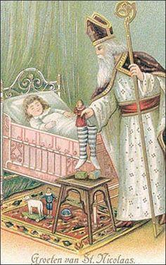Ansichtkaart : Groeten van St Nicolaas