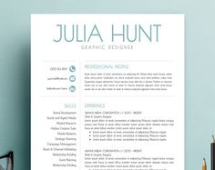 Resume Template  Cv Template  Cover Letter For Word   Page