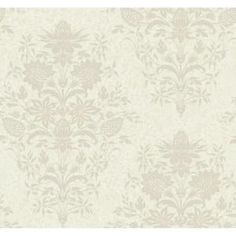 York Wallcoverings 60.75 sq. ft. Damask Small Scrolling Vine Wallpaper - Model # DC1372 at The Home Depot