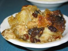 Bread Pudding With Vanilla Sauce - You Must Try This! It's So Good!