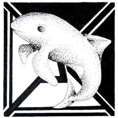 Day 31 1/09/16 Original aquatic pointillism Vaquita art