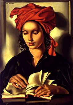 """lesfemmesartistes:    Tamara de Lempicka, Wisdom, 1940-41. Tamara de Lempicka (Łempicka) (16 May 1898 – 18 March 1980), born Maria Górska in Warsaw, Poland, was a Polish Art Deco painter and """"the first woman artist to be a glamour star""""."""